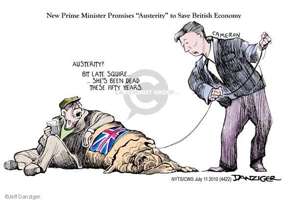Is it not time to focus on Britain itself? Japan will do very well, without your attention. (Cartoonist Jeff Danziger; courtesy - cartoonistgroup.com.).