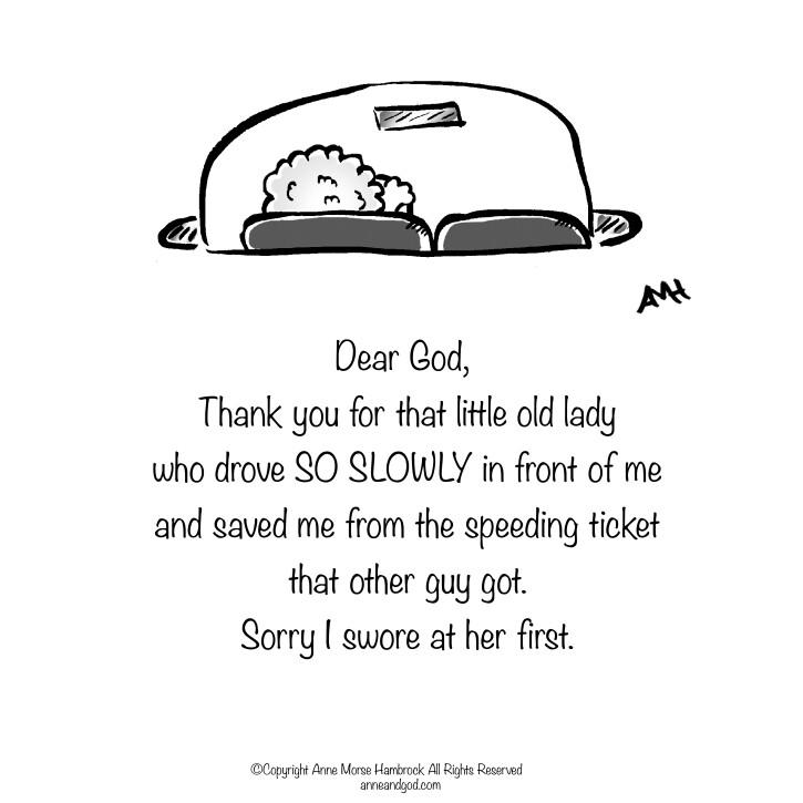 Comic Strip Anne Morse Hambrock  Anne and God 2015-04-19 first