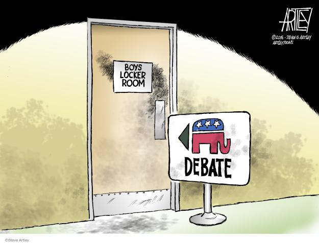 Cartoonist Steve Artley  Steve Artley's Editorial Cartoons 2016-03-08 republican candidate