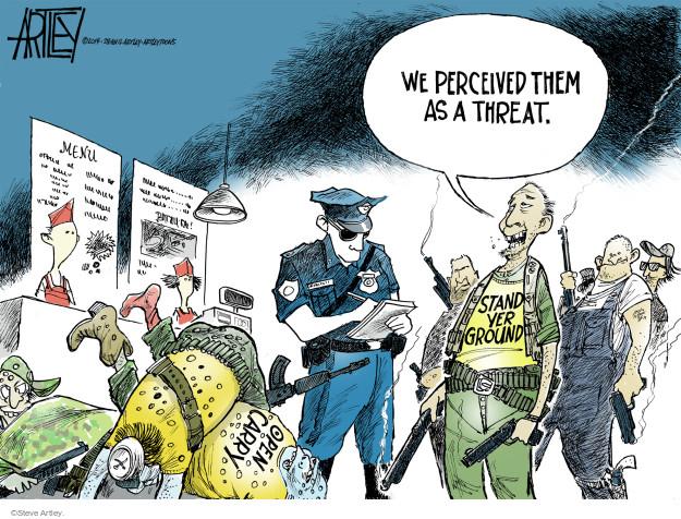 Cartoonist Steve Artley  Steve Artley's Editorial Cartoons 2014-06-08 gun death