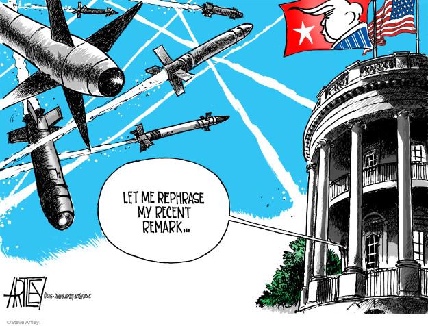 Cartoonist Steve Artley  Steve Artley's Editorial Cartoons 2016-04-02 nuclear proliferation