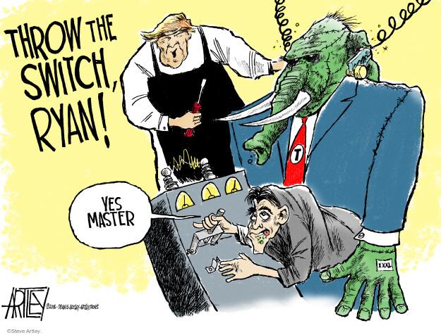 Cartoonist Steve Artley  Steve Artley's Editorial Cartoons 2016-05-16 republican candidate