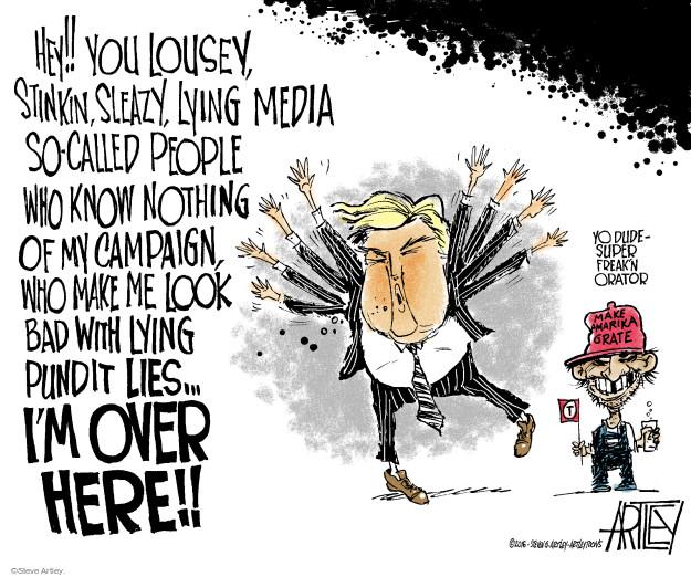 Cartoonist Steve Artley  Steve Artley's Editorial Cartoons 2016-06-06 attack