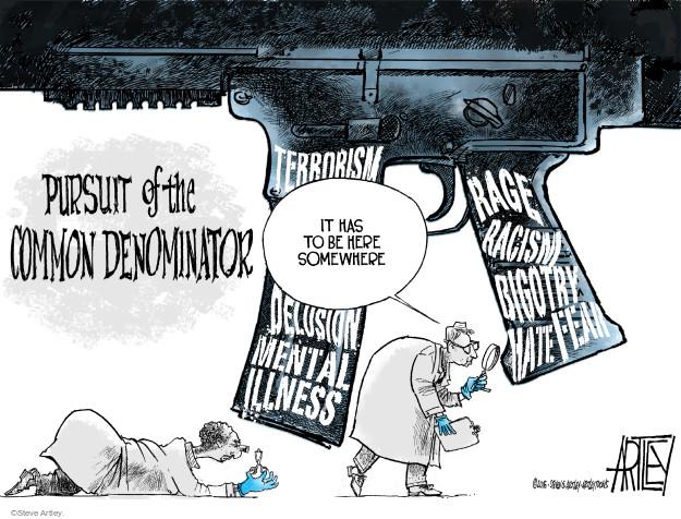 Cartoonist Steve Artley  Steve Artley's Editorial Cartoons 2016-07-11 weapon