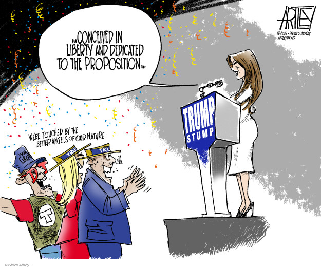 Cartoonist Steve Artley  Steve Artley's Editorial Cartoons 2016-07-19 Michelle Obama