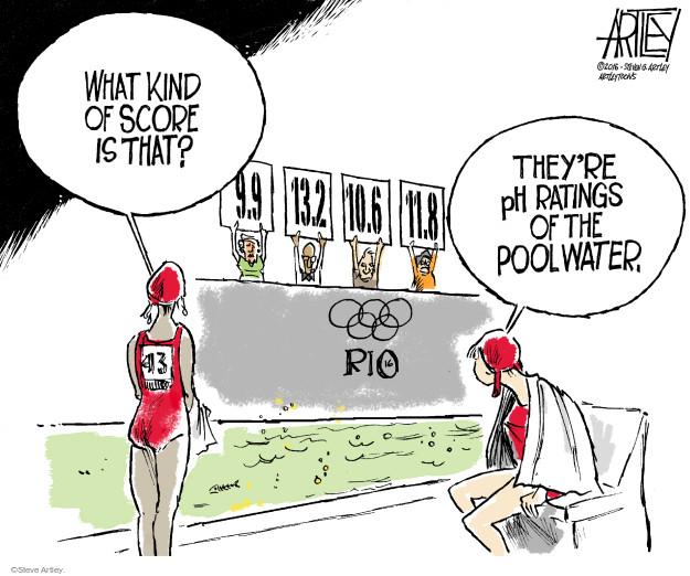 Steve Artley  Steve Artley's Editorial Cartoons 2016-08-10 summer Olympics