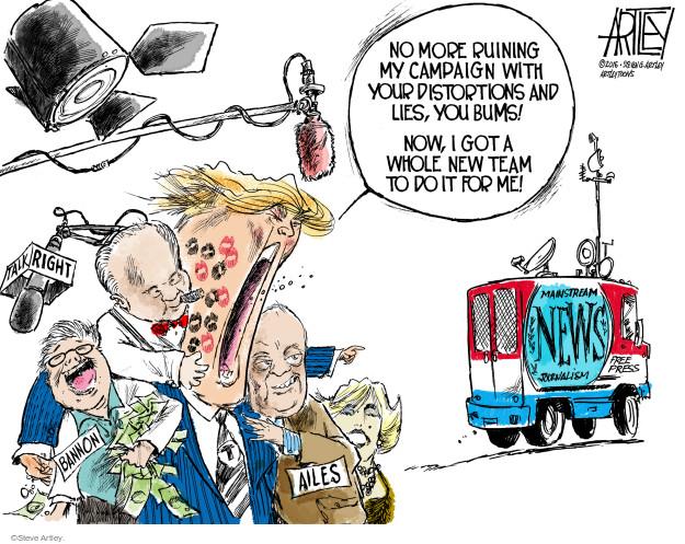 Steve Artley  Steve Artley's Editorial Cartoons 2016-08-18 freedom of the press