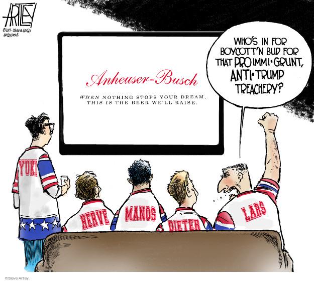 Steve Artley  Steve Artley's Editorial Cartoons 2017-02-07 immigration