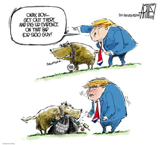 Cartoonist Steve Artley  Steve Artley's Editorial Cartoons 2017-03-08 national