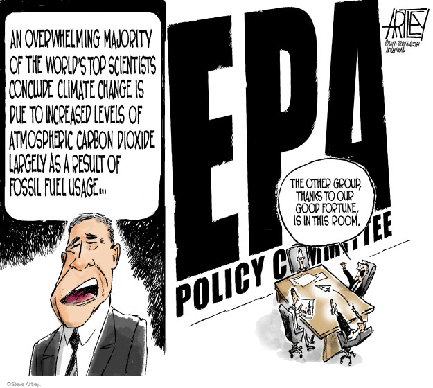 An overwhelming majority of the worlds top scientists conclude climate change is due to increased levels of atmospheric carbon dioxide largely as a result of fossil fuel usage … EPA Policy Committee. The other group, thanks to our good fortune, is in this room.