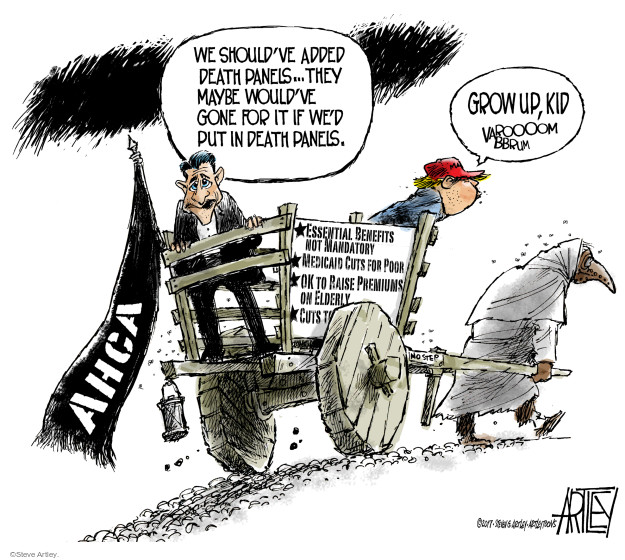 Cartoonist Steve Artley  Steve Artley's Editorial Cartoons 2017-03-27 republican politician