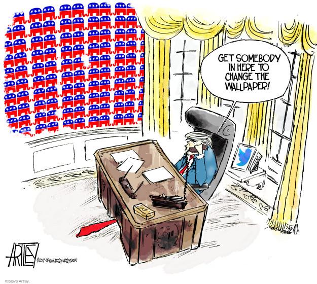 Cartoonist Steve Artley  Steve Artley's Editorial Cartoons 2017-03-31 republican politician