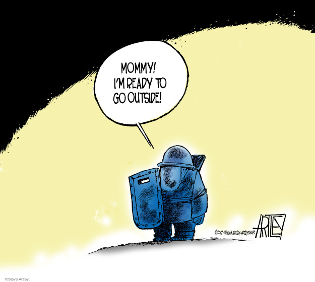 Cartoonist Steve Artley  Steve Artley's Editorial Cartoons 2017-05-26 armor