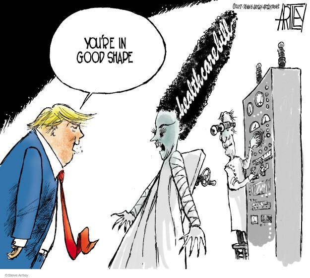 Cartoonist Steve Artley  Steve Artley's Editorial Cartoons 2017-07-18 care