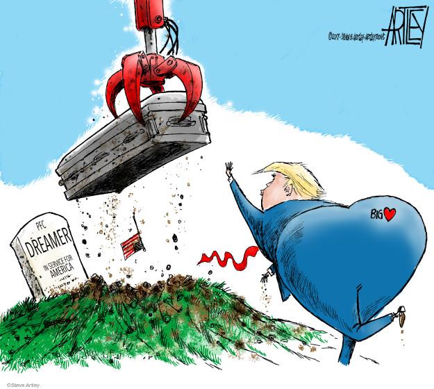 Steve Artley  Steve Artley's Editorial Cartoons 2017-09-05 immigration