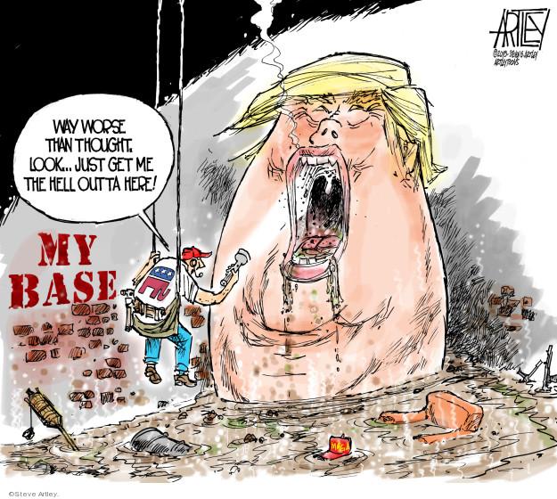 Cartoonist Steve Artley  Steve Artley's Editorial Cartoons 2018-07-17 republican politician