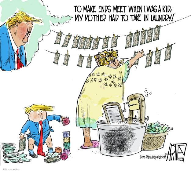 Cartoonist Steve Artley  Steve Artley's Editorial Cartoons 2018-10-06 Donald Trump taxes