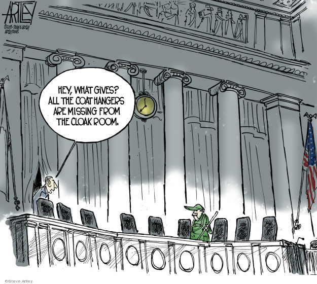 Steve Artley  Steve Artley's Editorial Cartoons 2018-10-11 Supreme Court