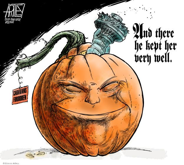 Cartoonist Steve Artley  Steve Artley's Editorial Cartoons 2018-10-25 administration