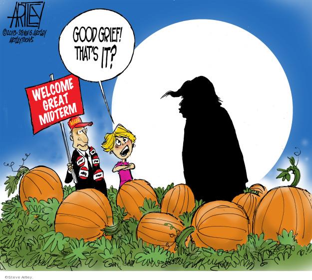 Cartoonist Steve Artley  Steve Artley's Editorial Cartoons 2018-10-31 administration