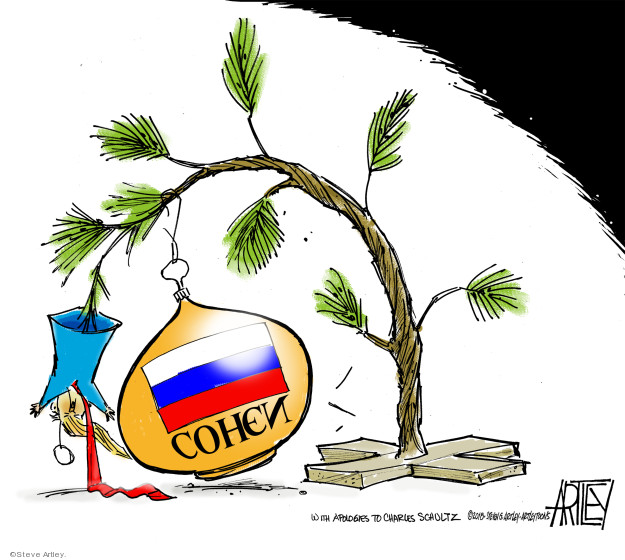 Cartoonist Steve Artley  Steve Artley's Editorial Cartoons 2018-11-29 president