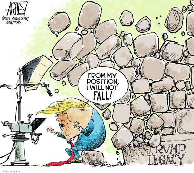 From my position, I will not fall! Trump legacy.