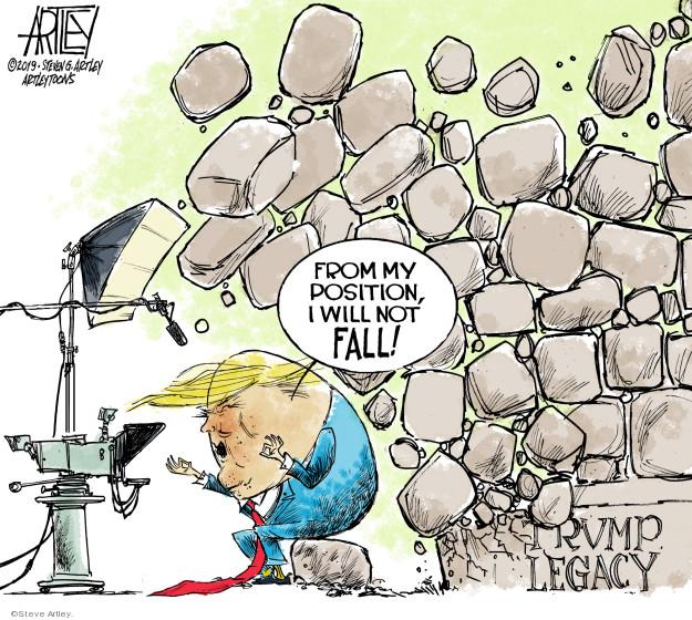 Cartoonist Steve Artley  Steve Artley's Editorial Cartoons 2019-01-09 administration