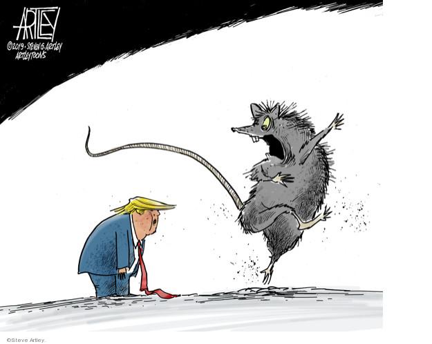 Cartoonist Steve Artley  Steve Artley's Editorial Cartoons 2019-07-29 administration