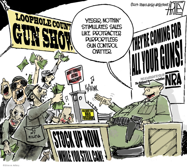 Steve Artley  Steve Artley's Editorial Cartoons 2019-08-12 mass shooting