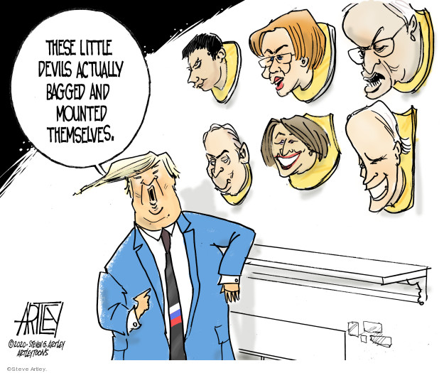 Steve Artley  Steve Artley's Editorial Cartoons 2020-02-21 2020 election debate