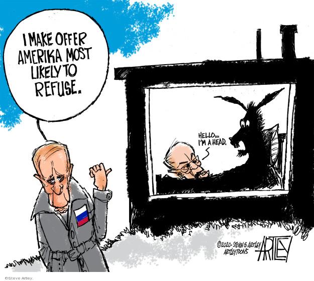 Steve Artley  Steve Artley's Editorial Cartoons 2020-02-24 2020 election