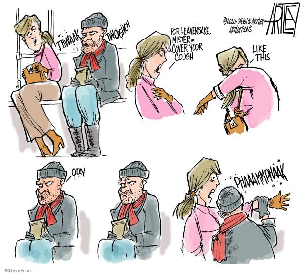 Cartoonist Steve Artley  Steve Artley's Editorial Cartoons 2020-03-16 coronavirus