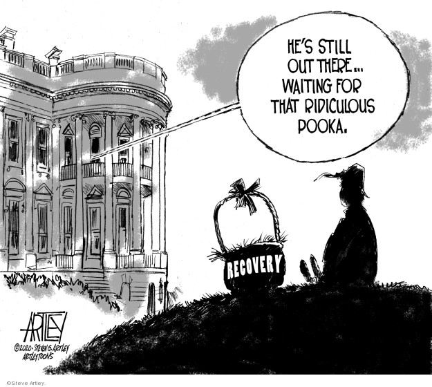 Cartoonist Steve Artley  Steve Artley's Editorial Cartoons 2020-03-26 recession