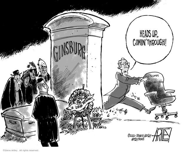 Steve Artley  Steve Artley's Editorial Cartoons 2020-09-19 obituary