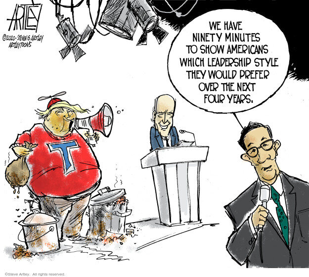 Steve Artley  Steve Artley's Editorial Cartoons 2020-09-30 Donald Trump