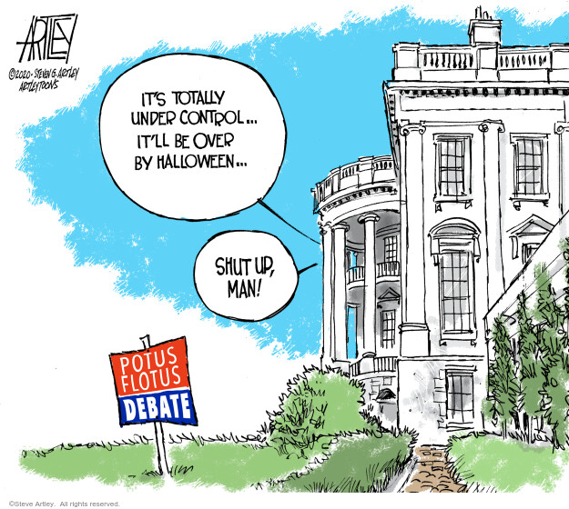 Steve Artley  Steve Artley's Editorial Cartoons 2020-10-02 Melania Trump
