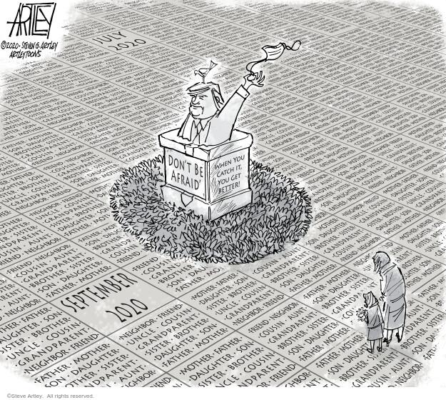Steve Artley  Steve Artley's Editorial Cartoons 2020-10-06 coronavirus