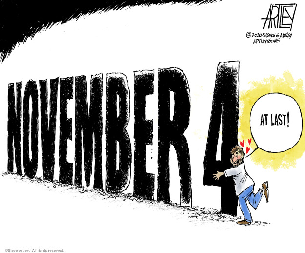 Steve Artley  Steve Artley's Editorial Cartoons 2020-10-29 politics