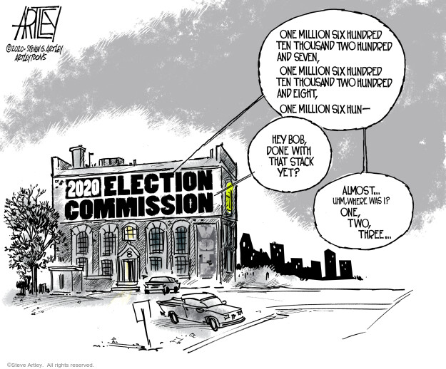 Steve Artley  Steve Artley's Editorial Cartoons 2020-11-04 politics