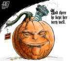 Cartoonist Steve Artley  Steve Artley's Editorial Cartoons 2018-10-25 Halloween