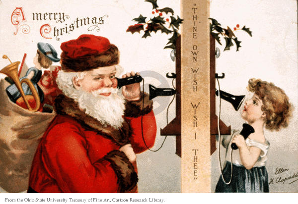 Thine own wish wishes I thee. A Merry Christmas.