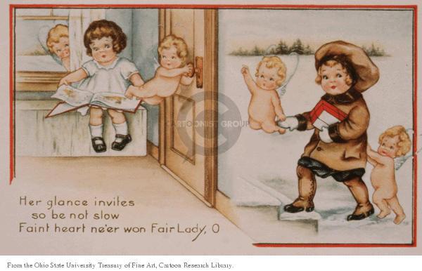 Cartoonist Ohio State Cartoon Library & Museum  Ohio State Cartoon Library & Museum 1910-00-00 Valentine's Day