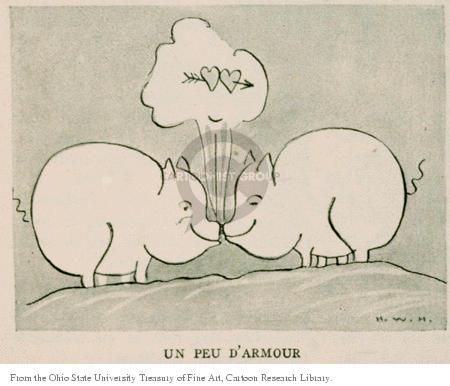 Cartoonist Ohio State Cartoon Library & Museum  Ohio State Cartoon Library & Museum 1924-10-02 arrow of love