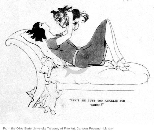 Cartoonist Ohio State Cartoon Library & Museum  Ohio State Cartoon Library & Museum 1925-02-05 adoration
