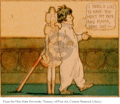 Cartoonist Ohio State Cartoon Library & Museum  Ohio State Cartoon Library & Museum 1906-02-11 boy and girl