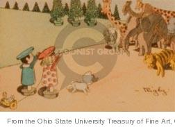 Cartoonist Ohio State Cartoon Library & Museum  Ohio State Cartoon Library & Museum 1902-12-07 boy and girl