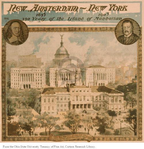 New Amsterdam.  New York.  1653 - 1903 250 Years of the Island of Manhattan.