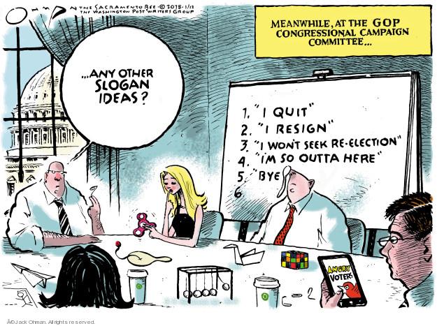 Cartoonist Jack Ohman  Jack Ohman's Editorial Cartoons 2018-01-12 congress election