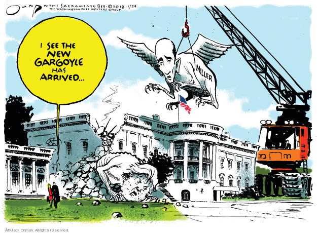 Jack Ohman  Jack Ohman's Editorial Cartoons 2018-01-24 Stephen Miller