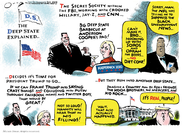 Jack Ohman  Jack Ohman's Editorial Cartoons 2018-02-01 Donald Trump Sean Hannity